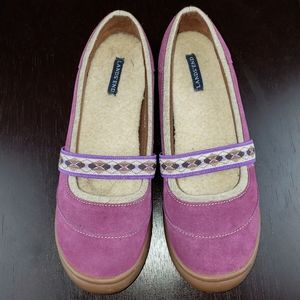 Land's End Purple Suede Mary Jane Slip-on, sz 7.5